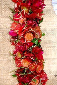 A Christmas Lei. Hawaiian Art, Hawaiian Flowers, Hawaiian Leis, Exotic Flowers, Tropical Flowers, Beautiful Flowers, Haku, Flower Lei, Money Lei
