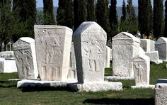 Stećak from Radimlja near Stolac, 13th century. Engraving on the tombstone: May this hand make you think about yours.