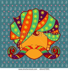 Vector design of Rajasthani man with turban and moustache in Indian art style Source by coffymaiden Rajasthani Painting, Rajasthani Art, Madhubani Art, Madhubani Painting, Art Pop, Indian Illustration, Car Illustration, Indian Folk Art, Truck Art