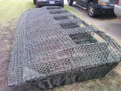 converting jonboat to duck blind