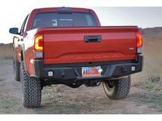 16 Tacoma with aftermarket rear bumper