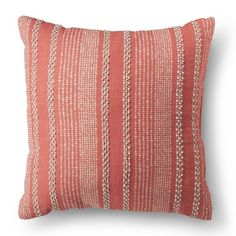 Threshold™ Textured Line Decorative  Pillow - Coral