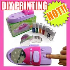 Nail Art Colors Polish Kit Stamper DIY Printer Machine, Health & Beauty :: Personal Care :: Cosmetics :: Nail Care :: Bullszi.com