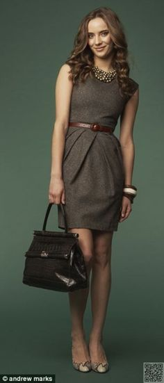 3. A #Simple Dress - #Outfit #Inspiration for the #Perfect Office #Looks ... → #Fashion #Flowy