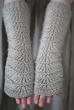Gingerless Gloves #knit #free_pattern