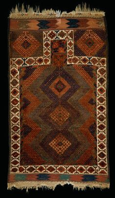 Culture Baluchi people Creation date early 20th century Collection Textiles Materials wool Dimensions 37 x 63 in.   94.0 x 160.0 cm.