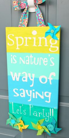 Great Spring and Easter decor ideas, some DIY.