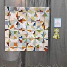 One of my favorite quilts in the show. Bee quilt (1st place) quilted by Krista Fleckenstein by katie@swimbikequilt, via Flickr