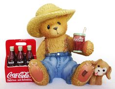 Enesco Cherished Teddies 707007 Dewey Coca Cola 2001 Figurine Retired   eBay