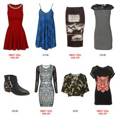 48 Hours FLASH SALE | Dresses from £2.95 #skaterdress #tartan #motownprint #monochrome #checked #ankleboot #tribal #camouflage #croptop #lion #stud #rihanna #kimkardashian #fashion #fbloggers #ootd #sale