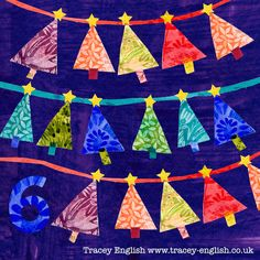 Day 6 Christmas Bunting by Tracey English www.tracey-english.co.uk