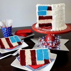 An All American Flag Cake with step by step photo tutorial + a giveaway