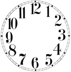 11 Clock Face Images – Print Your Own! (The Graphics Fairy) - 11 Clock Face Images – Print Your Own! Clock Template, Face Template, Blank Clock Faces, Clock Clipart, Clock Face Printable, Clock Numbers, Vintage Alarm Clocks, White Clocks, Face Images