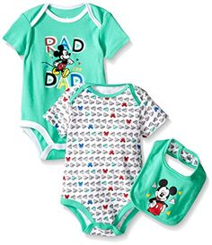 Disney Baby Mickey Mouse 2 Pack Bodysuit with Bib, Multi/Green, 3/6 Months Disney http://www.amazon.com/dp/B018F5C068/ref=cm_sw_r_pi_dp_NZKYwb0KTV8Y4