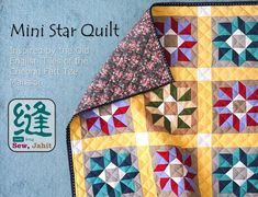Learn how to put together this mini octagonal star patchwork quilt that was inspired by old English tiles, using the foundation paper piecing method. Free patterns are provided for both foundation paper piecing and conventional piecing. Quilting Thread, Quilting Tips, Quilting Tutorials, Hand Quilting, Small Quilt Projects, Quilting Projects, Quilting Designs, Foundation Paper Piecing, Small Quilts