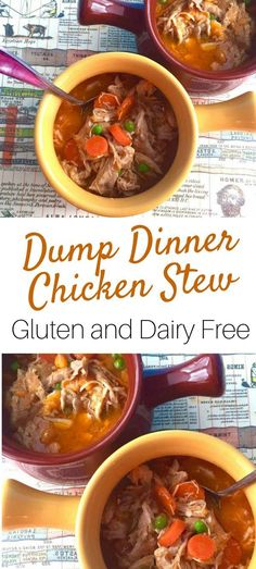 Ever heard of a dump dinner? It is a quick meal prep tip, where you prepare everything ready to go in a crock pot for a meal and freeze it. The night befor Best Gluten Free Recipes, Thm Recipes, Clean Eating Recipes, Slow Cooker Recipes, Whole Food Recipes, Healthy Recipes, Fodmap Recipes, Soup Recipes, Diet