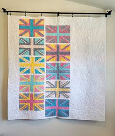 Union Jack Throw Quilt by Happier Than a Bird Quilts for sale on Etsy
