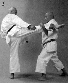 Soto sukui uke, jōdan gyaku zuki, kinteki geri, jōdan haishu uchi