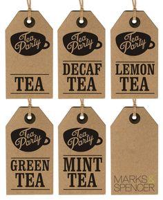 Tea packaging Labels