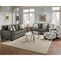 Nebraska Furniture Mart – Corinthian Contemporary Sofa, Loveseat and Accent Chair
