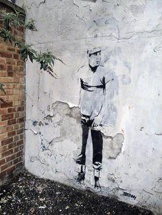 "Street art ""Found"" (Islington, London, England, April 2013) by Stewy"