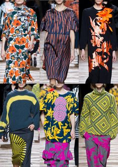 Paris Fashion Week – Autumn/Winter 2014/2015 – Print Highlights – Part 1 catwalks