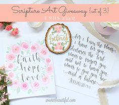 Scripture Art Giveaway! | Woven Beautiful, ends 2/24/17 #giveaway #art #scriptureart