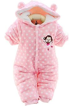0fcf56838d9d Happy Cherry Baby Soft Hppdies Romper Outfit Warm Bodysuit Dot Cute Monkey  Cherry Baby