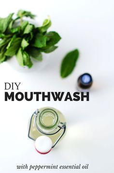 DIY Minty Mouthwash with Essential Oils