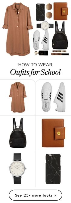 """""""Back To School!"""" by thepoopingsalsa on Polyvore featuring United by Blue, adidas, STELLA McCARTNEY, Bulgari, Victoria Beckham, Lord & Berry, Clive Christian and Too Faced Cosmetics"""