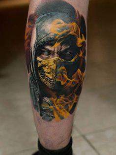 Mortal Kombat 9 scorpion tattoo is so awesome.