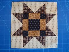 Thread Head Quilt Along- Block #10 posted by Joanne-I chose a quick and easy block for this week - enough little triangles for a while! This is another variation of a Variable Star.