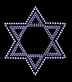 Star of David Hanukkah Rhinestone Motif Design TShirt Star of David hanukkah Design Motif Tee Shirt Hanukkah Rhinestone Star of David
