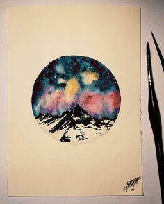 Galaxie watercolor