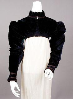 Silk Velvet Spencer Jacket, c. 1815