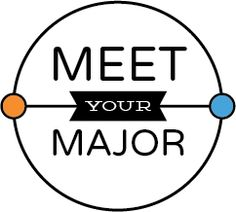 "This is a logo draft for an event called ""Meet Your Major"" where college students can network with alumni who graduated with the same major and learn about how it has influenced their career."