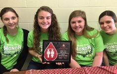 Congratulations to Valley View High School - a Red Cord Honor School for 2016! The National Honor Society sponsors two blood drives a year at Valley View. CBC presented the award to volunteers Emma, Jill, Faith & Maddy with special thanks to blood drive coordinator and NHS advisor Sarajane Steinecker.