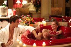 Romantic Valentine's bath