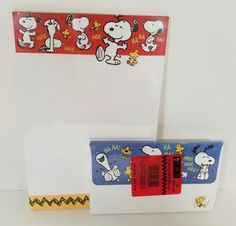Hallmark Snoopy Peanuts Collection Stationery Tablet Envelopes Bundle New 1990s