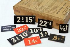 10 x Vintage General Store Price Tags Grocer by VintageInkPrints