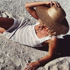 Throw the Stripe Knit Dress over your fav bikinis and head to the beach! Get the look like @sallymustang at #SaboSkirt.com