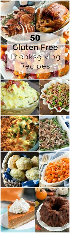 Collection of 50 recipes for a complete Thanksgiving holiday dinner and all of them are Gluten Free.