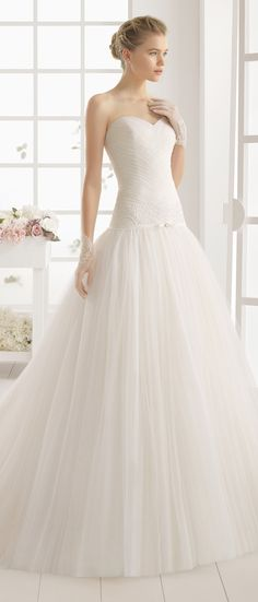Aire Barcelona 2016 Bridal Collection - Part 1 - Belle The Magazine Aire Barcelona Wedding Dresses, 2016 Wedding Dresses, Stunning Wedding Dresses, Bridal Dresses, Wedding Gowns, Bridesmaid Dresses, Tulle Wedding, Wedding Gallery, Romantic Wedding Colors