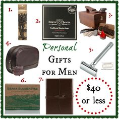 Personal Gifts for Classy Men– for under $40 #gifts #gentlemen
