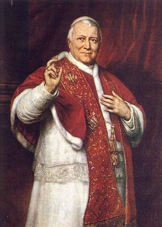 Saint of the Day Blessed Pope Pius IX Bishop of Rome, Writer. The longest regining Pope. Bl Pius was born as Giovanni Maria Mastai-Ferretti on 13 May 1792 in Senigallia, Italy and he… Catholic Religion, Catholic Priest, Catholic Saints, Roman Catholic, Papa Francisco, Franz Von Sales, Papa Pio Xi, Pope Of Rome, Beast Of Revelation
