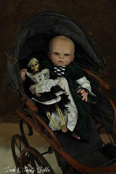 Lacey Michelle Dark and Twisty Reborn Victorian Gothic Vampire Baby Art & Oddly Sweet OOAK Art Dolls. - Dark & Twisty Reborn Gallery - Jester & EchoTwins