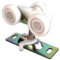 "Pocket Door Roller (Set of 2) by PrimeLine. $21.00. N6848 Diameter: 1"" Three 0.75"" diameter nylon wheels, steel top mount adjustable bracket used on pocket doors, sliding doors, and bi-folding doors. Features: -Pocket door roller. -Material: Nylon. -Mount: Top. Specifications: -Diameter 0.75"": 7.44""H x 1.13"" W x 3.81"" D. -Diameter 1"": 9.48""H x 0.75"" W x 3.81"" D. -Dimensions: 7.44-9.48"" H x 0.75-1.13"" W x 3.81"" D."
