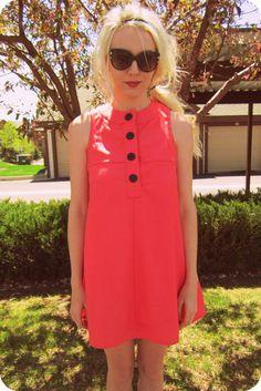 Twiggy Inspired 60s Mod Mini Dress $60.00