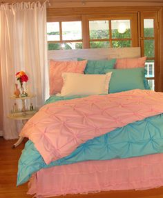 Bedding for teens peach and teal bedding teen girl bedding turquoise and pink horse bedding for . Decor, Bedroom Sets, Girl Beds, Home, Dream Bedroom, Bed, Diy Girls Bedroom, Bedroom Decor, New Room
