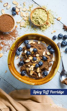 Spicy Teff Porridge: Move over quinoa and oatmeal, its the little guys time to shine. Replace your morning grain with teffthe smallest grain in the world.